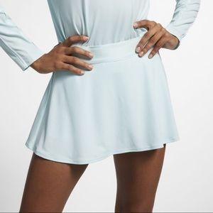 Nike white teal tennis skirt